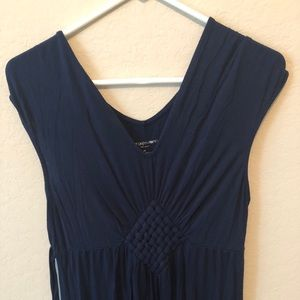 Liz Lange Maternity Navy Blue V-neck Maxi Dress